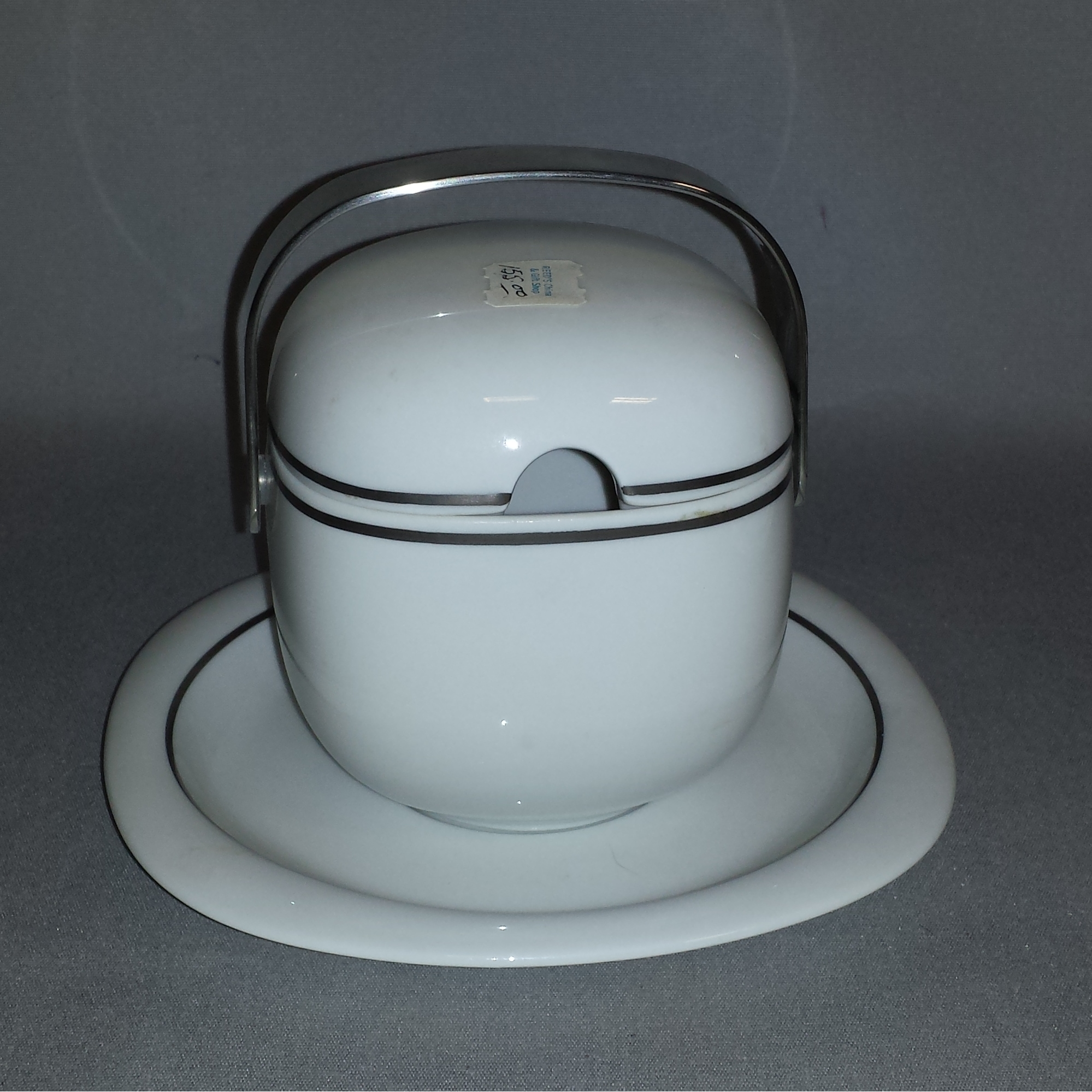 Rosenthal Suomi Platinum sauce boat and plate - full view