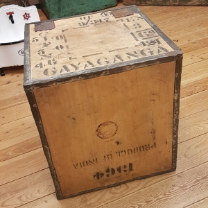 vintage wooden tea crate