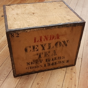 Wooden Ceylon tea crate