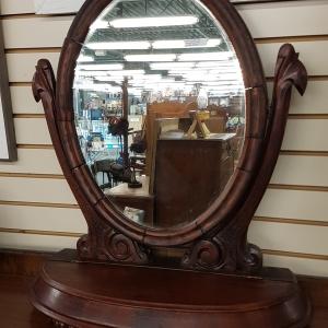 mahogany valet dresser mirror - 1