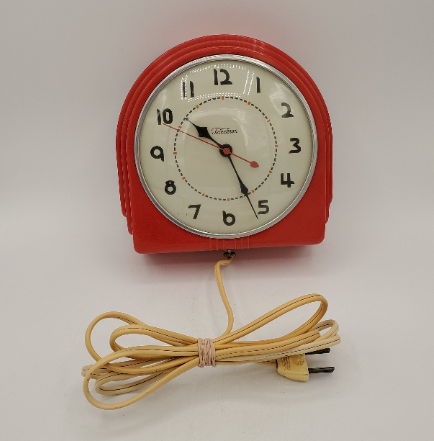 art deco electric clock