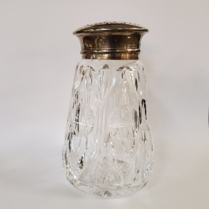 Sterling Silver Crystal Sugar Shaker