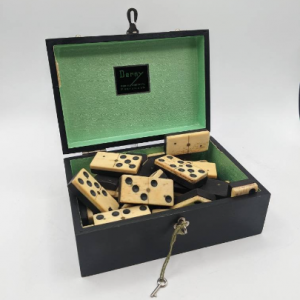 Antique Bone and Ebony Dominoes