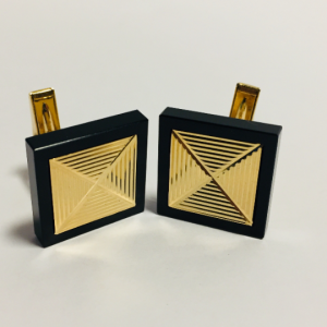 14K Gold Black Onyx Cufflinks
