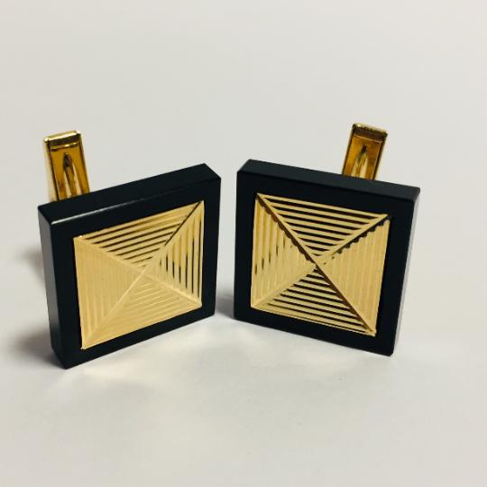 14K Gold Black Onyx Cufflinks