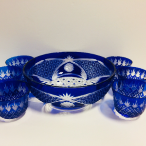 Bohemian Crystal Berry Bowl Set