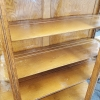 Oak Curved Front China Cabinet