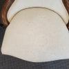 Ivory Brocade Slipper Chair