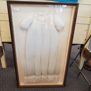Framed Vintage Christening Gown