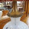 Pair Fenton Coin Dot Lamps
