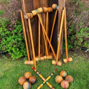 Vintage Croquet Set in Box