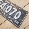 1942 Alberta License Plate