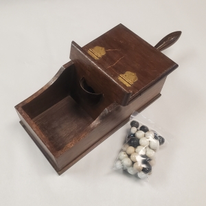 Antique Ballot Box with Old Marbles