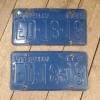 Pair 1964 Alberta license plates